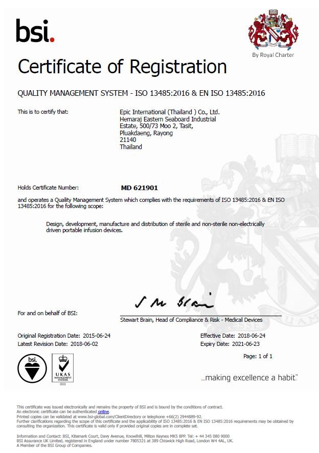 Certificate of registration 2016